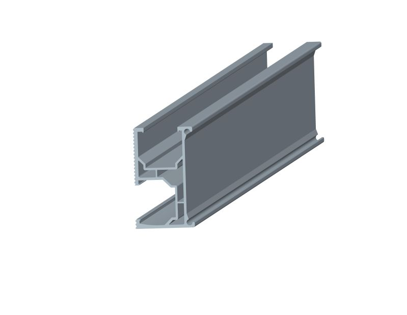 Rail for solar racking